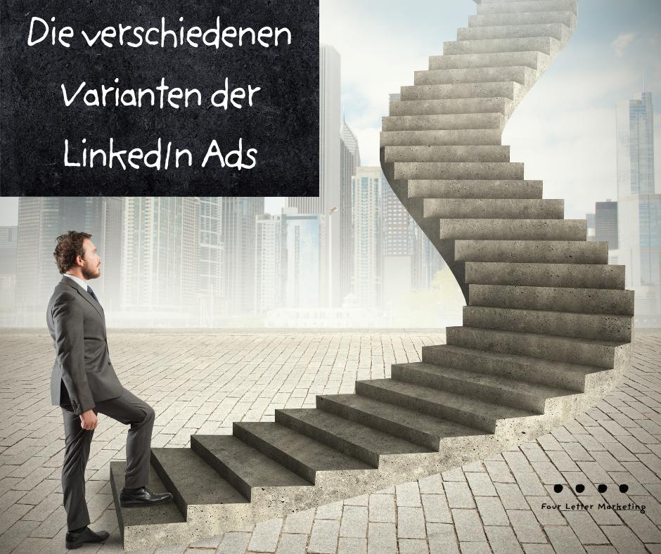 Die verschiedenen Varianten der LinkedIn Ads