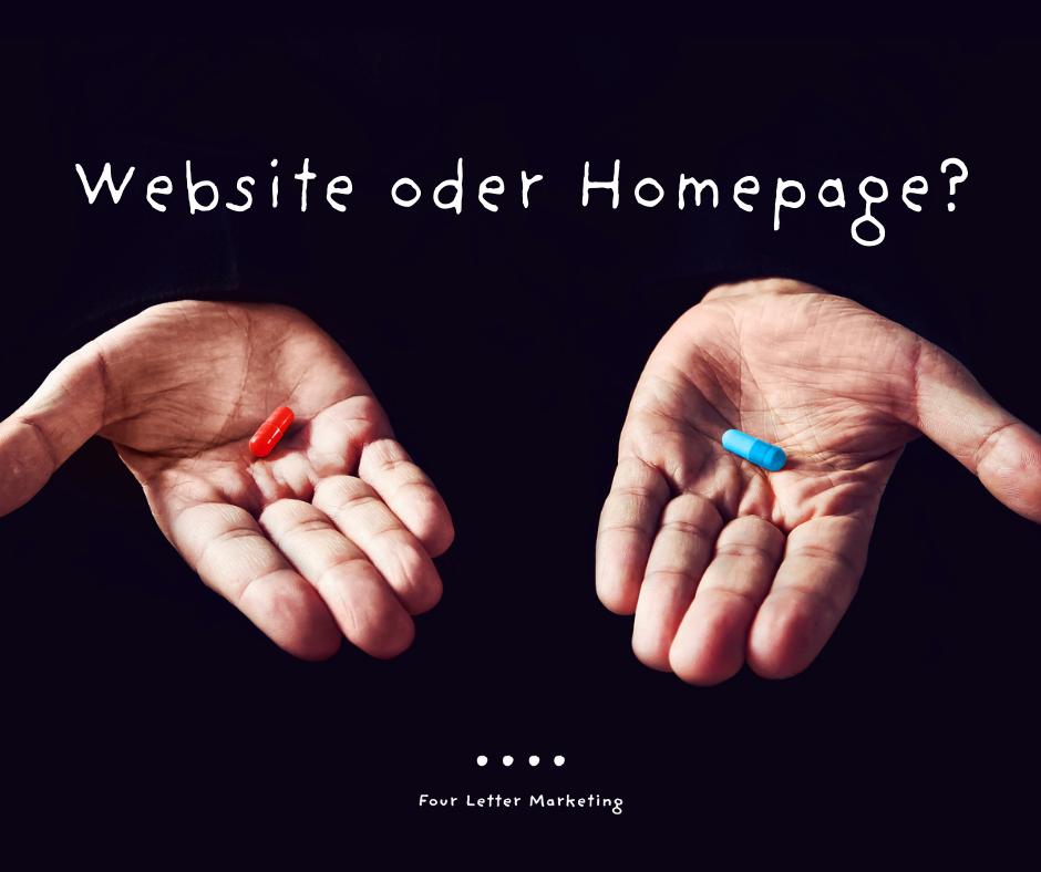Website oder Homepage?