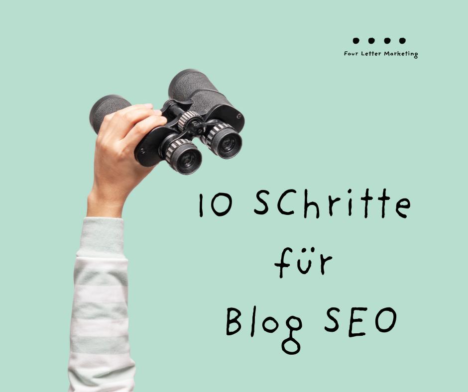 Blog SEO: 10 Schritte